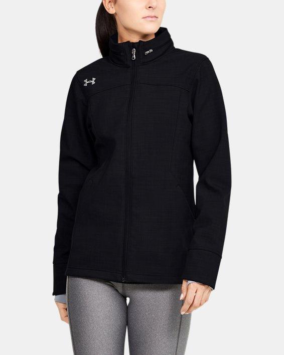 Women's UA Barrage Softshell Jacket, Black, pdpMainDesktop image number 1