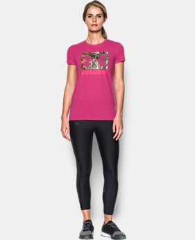 Women's UA Camo Logo T-Shirt  3 Colors $29.99
