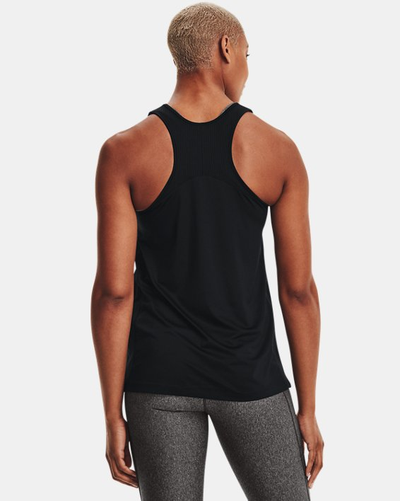 UA Women's Game Time Tank, Black, pdpMainDesktop image number 2