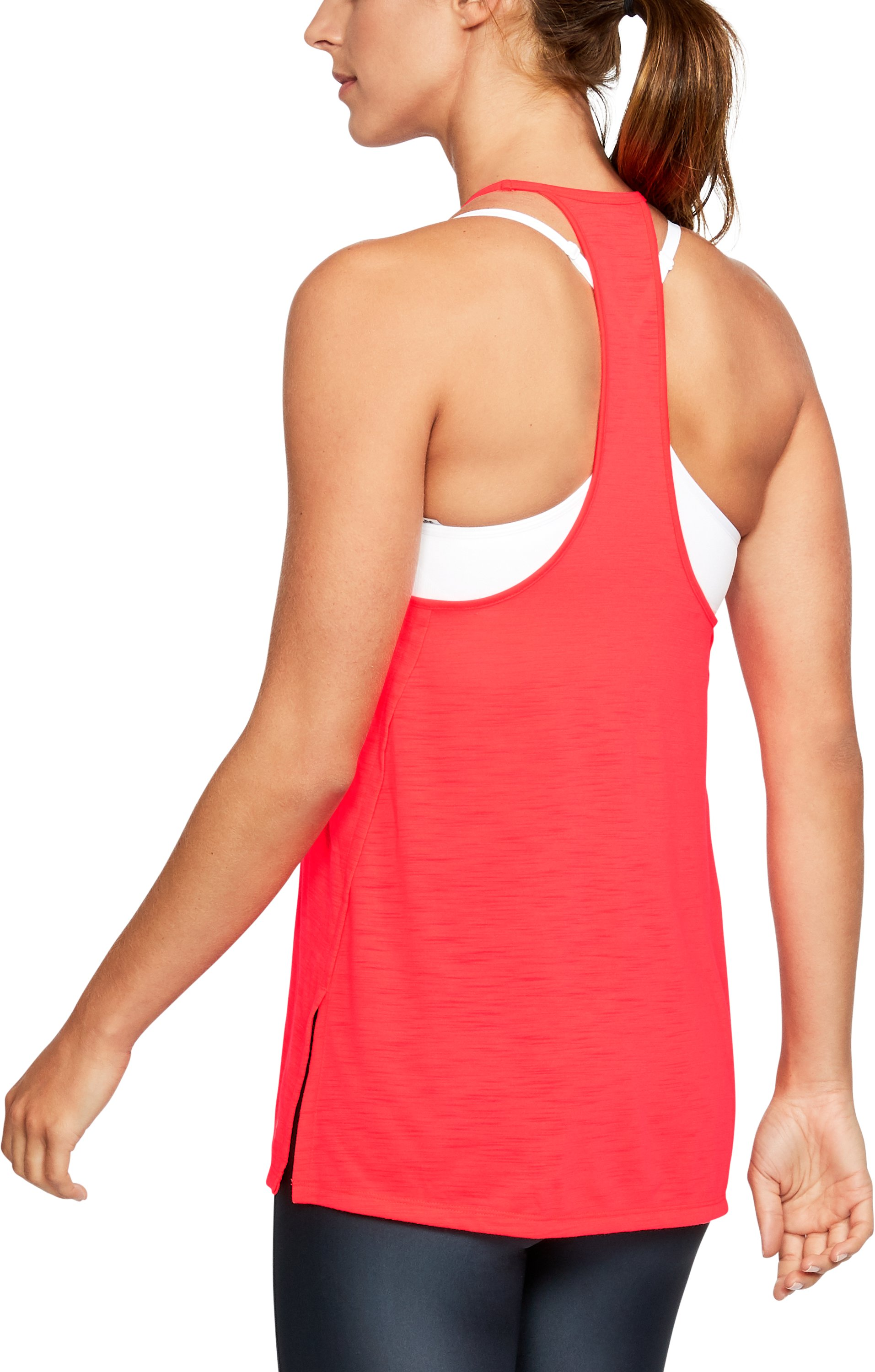 Women's UA Threadborne™ High Neck Tank, MARATHON RED, undefined