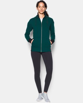 New Arrival Women's UA Threadborne™ Fleece Full Zip Hoodie  1 Color $74.99