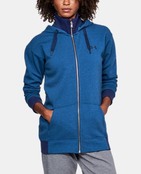 Women's UA Threadborne™ Fleece Full Zip Hoodie LIMITED TIME OFFER 1 Color $59.49