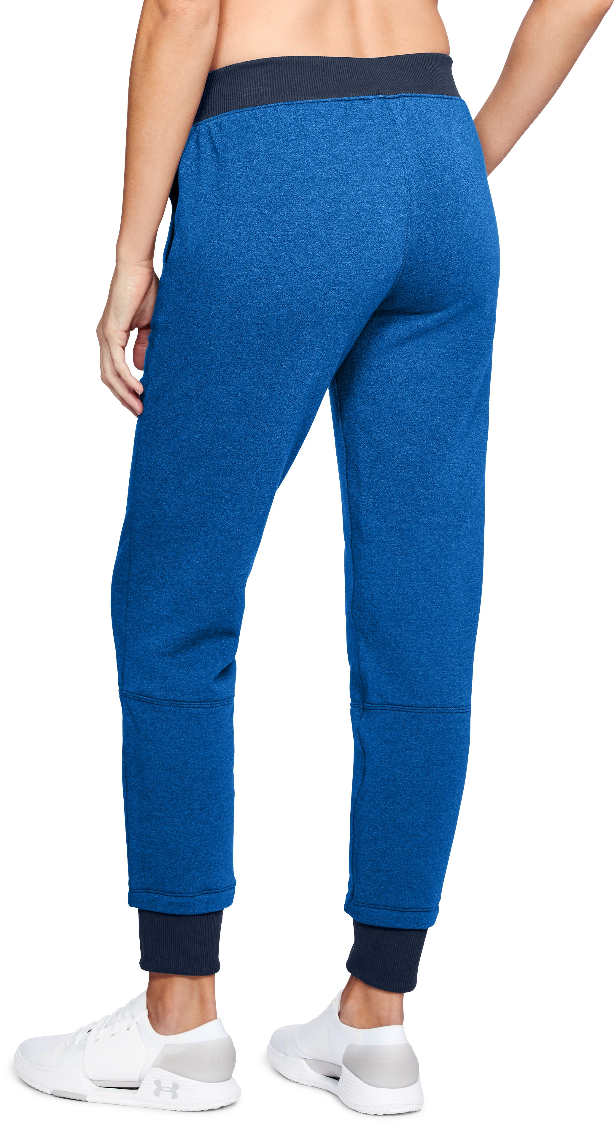Women's UA Threadborne™ Fleece Crop, LAPIS BLUE,