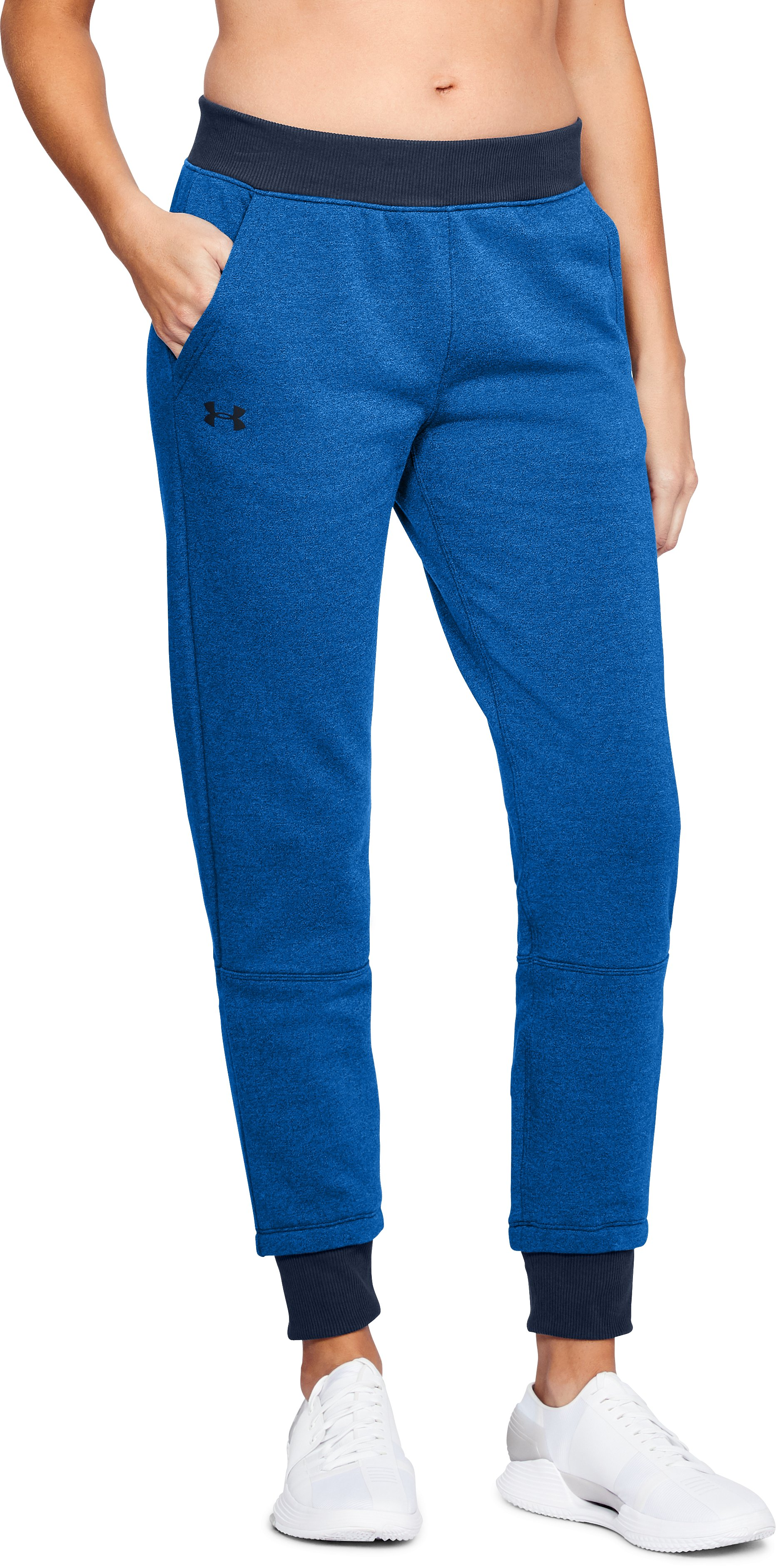 Women's UA Threadborne™ Fleece Crop, LAPIS BLUE