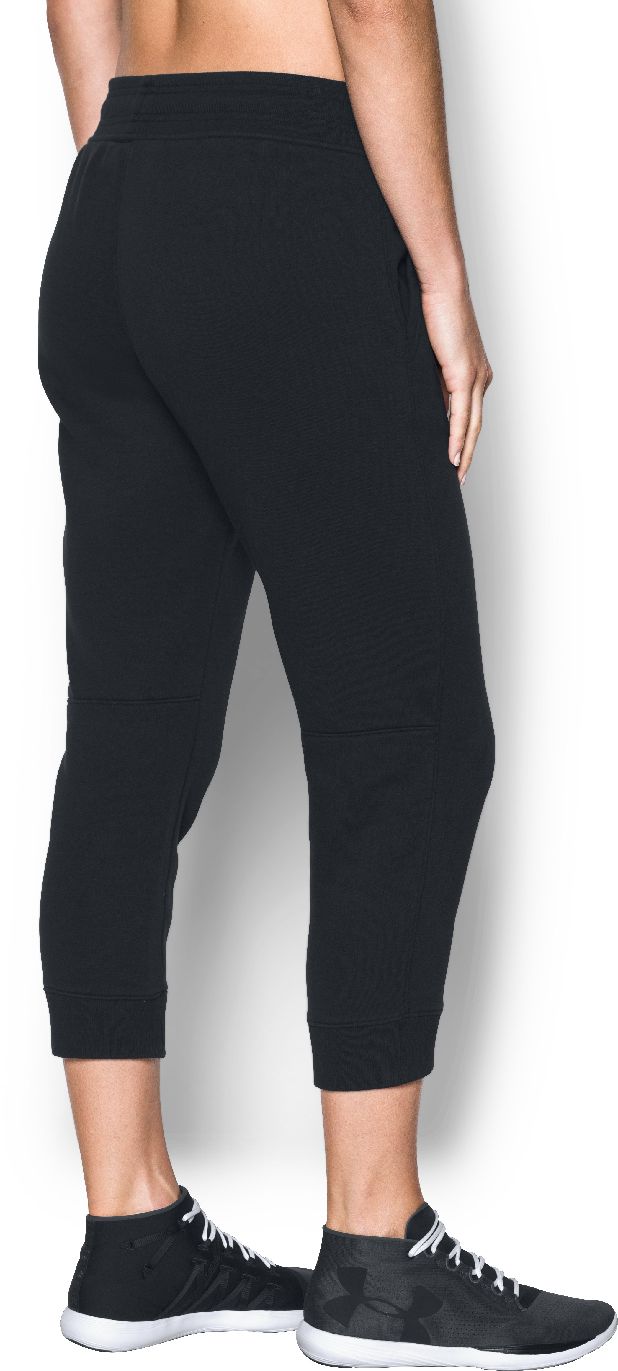 Women's UA Favorite Fleece Capri, Black , undefined