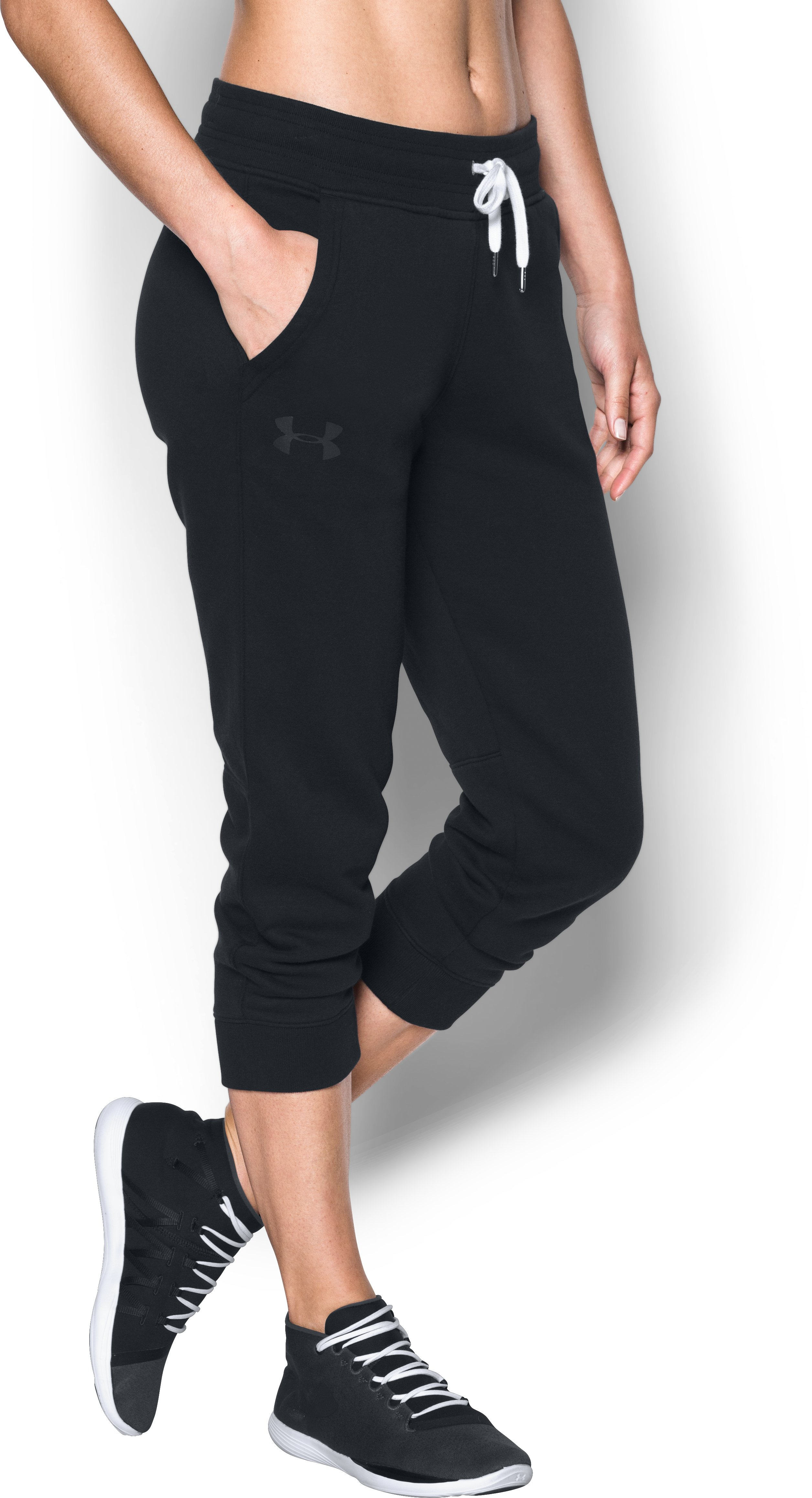 Women's UA Favorite Fleece Capri, Black