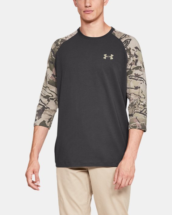 Men's Ridge Reaper® ¾ Sleeve T-Shirt, Gray, pdpMainDesktop image number 0