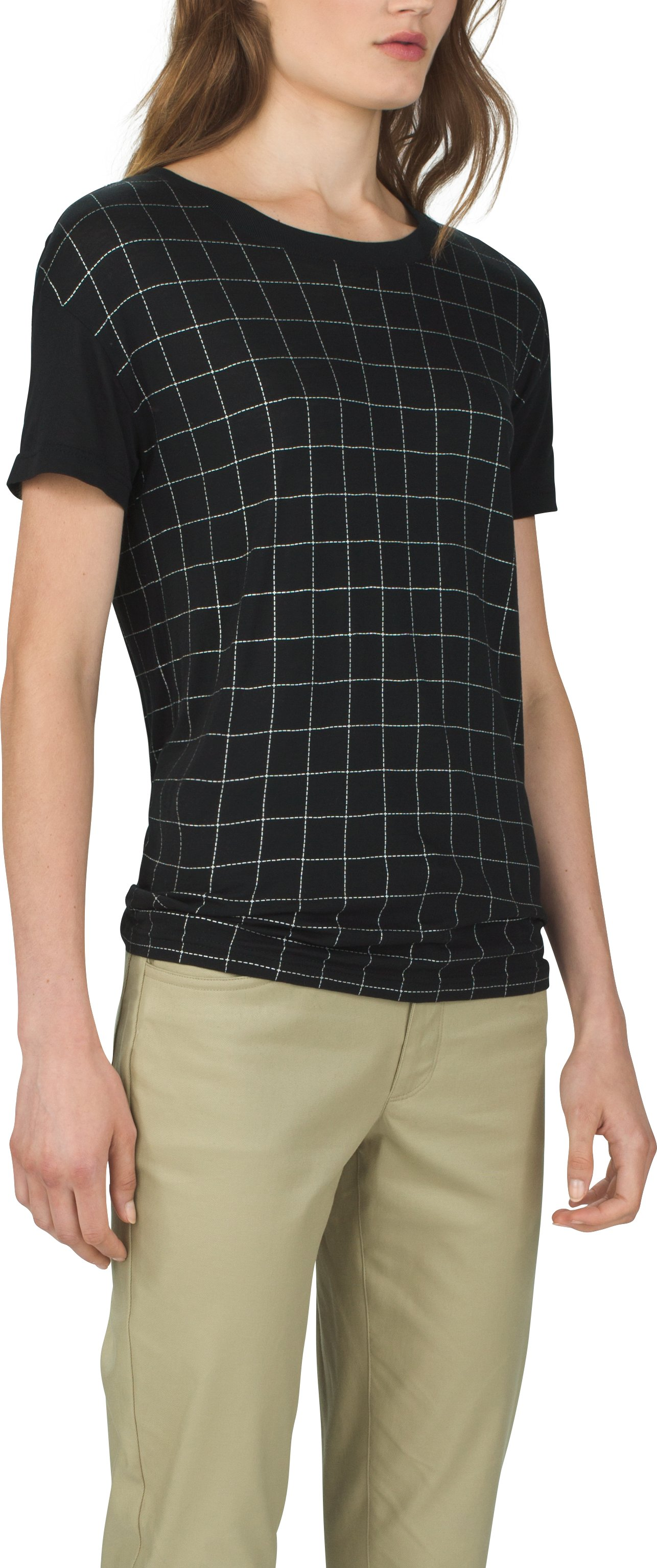 Women's UAS Downtown Grid Graphic Modal Crew, Black