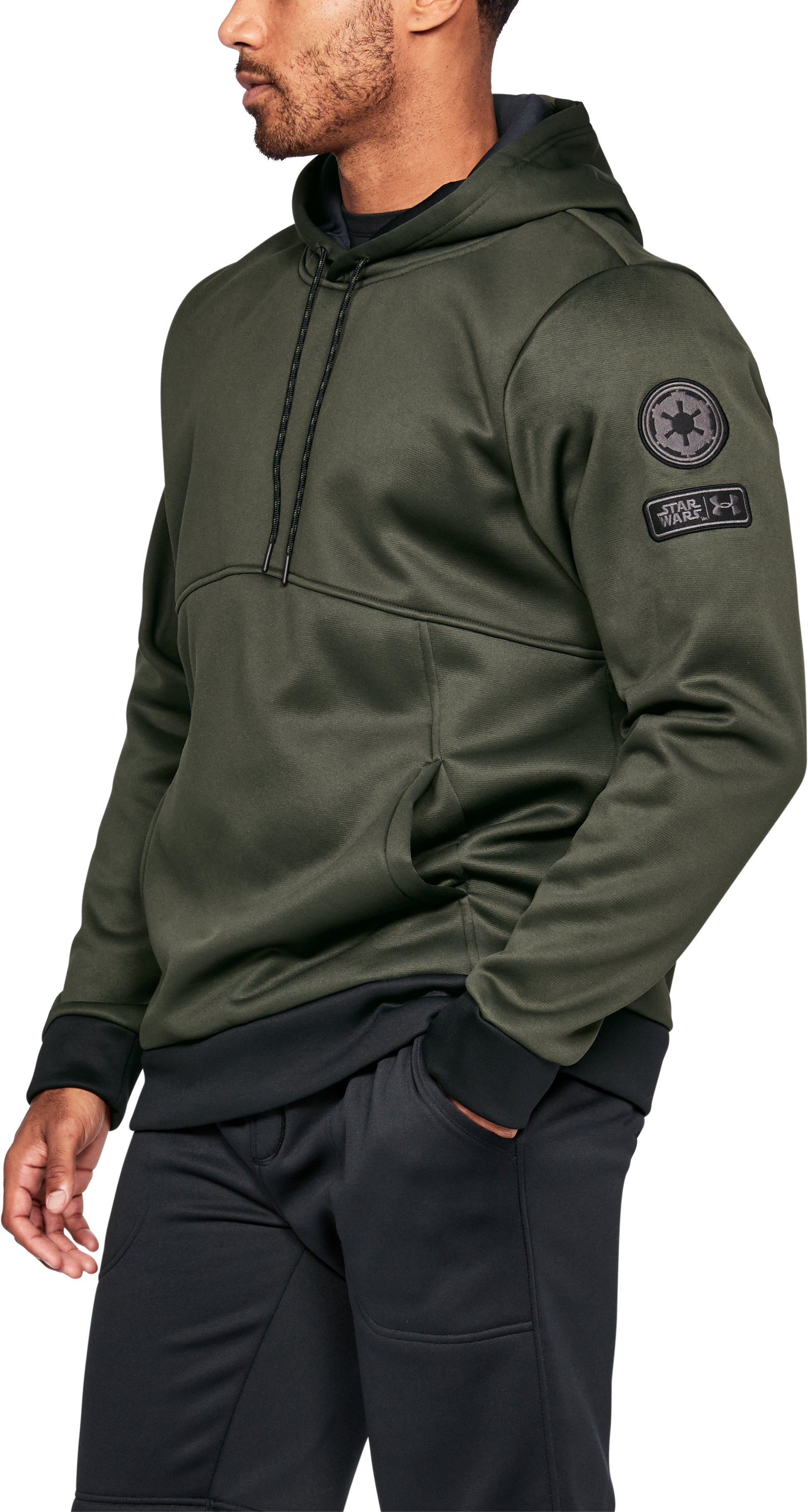 Men's Star Wars UA Storm Hoodie, Rifle Green,