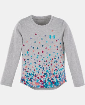 New Arrival Girls' Toddler UA Tri Meta Fade Long Sleeve   $24.99