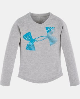 New Arrival Girls' Pre-School UA Galaxy Cropped Logo Long Sleeve  2 Colors $24.99