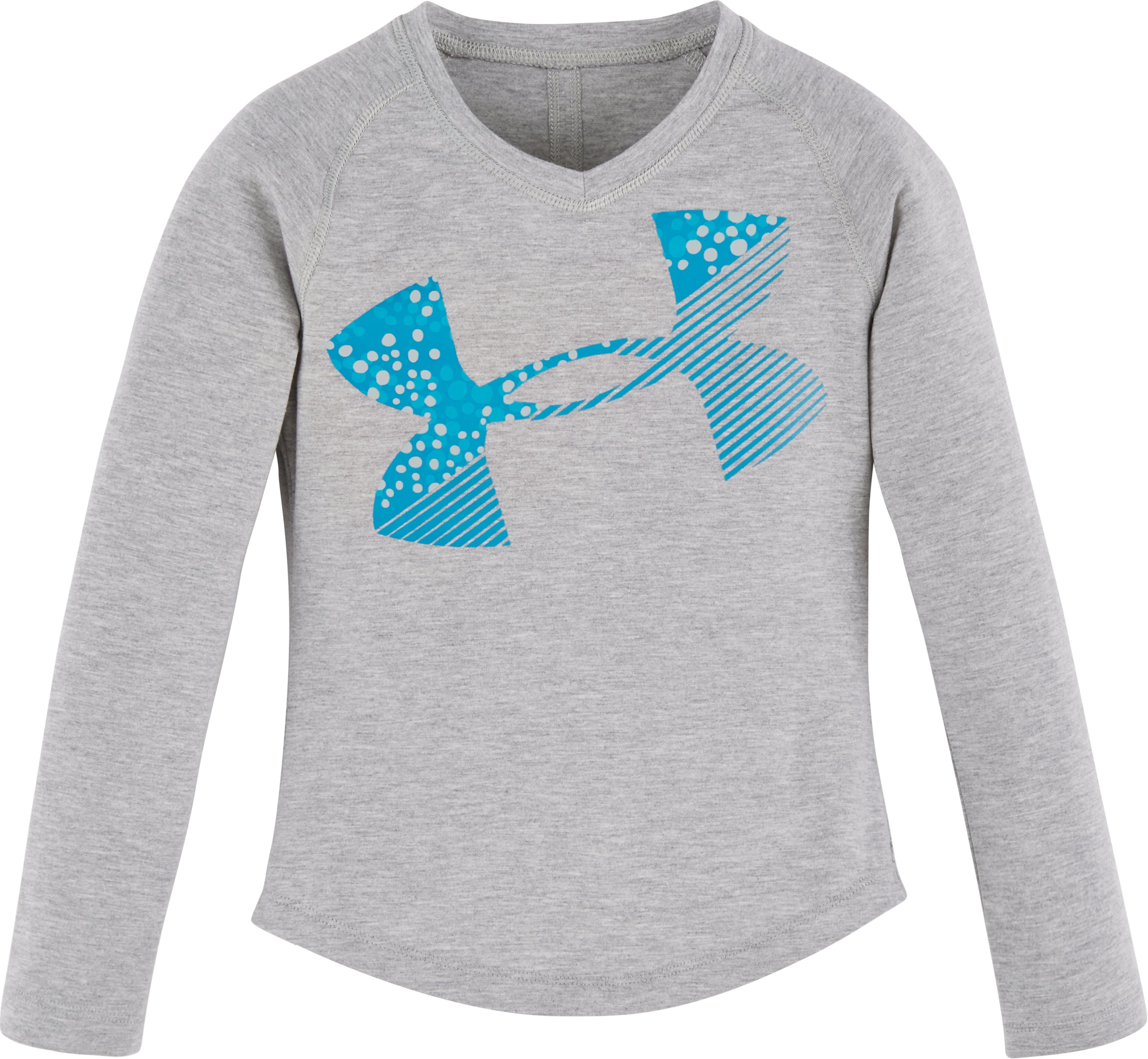 Girls' Toddler UA Galaxy Cropped Logo Long Sleeve, True Gray Heather