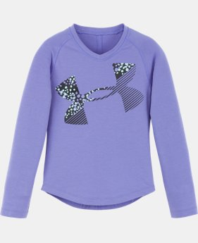 New Arrival Girls' Toddler UA Galaxy Cropped Logo Long Sleeve   $24.99