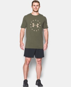 Best Seller Men's UA Freedom Logo T-Shirt  1 Color $24.99