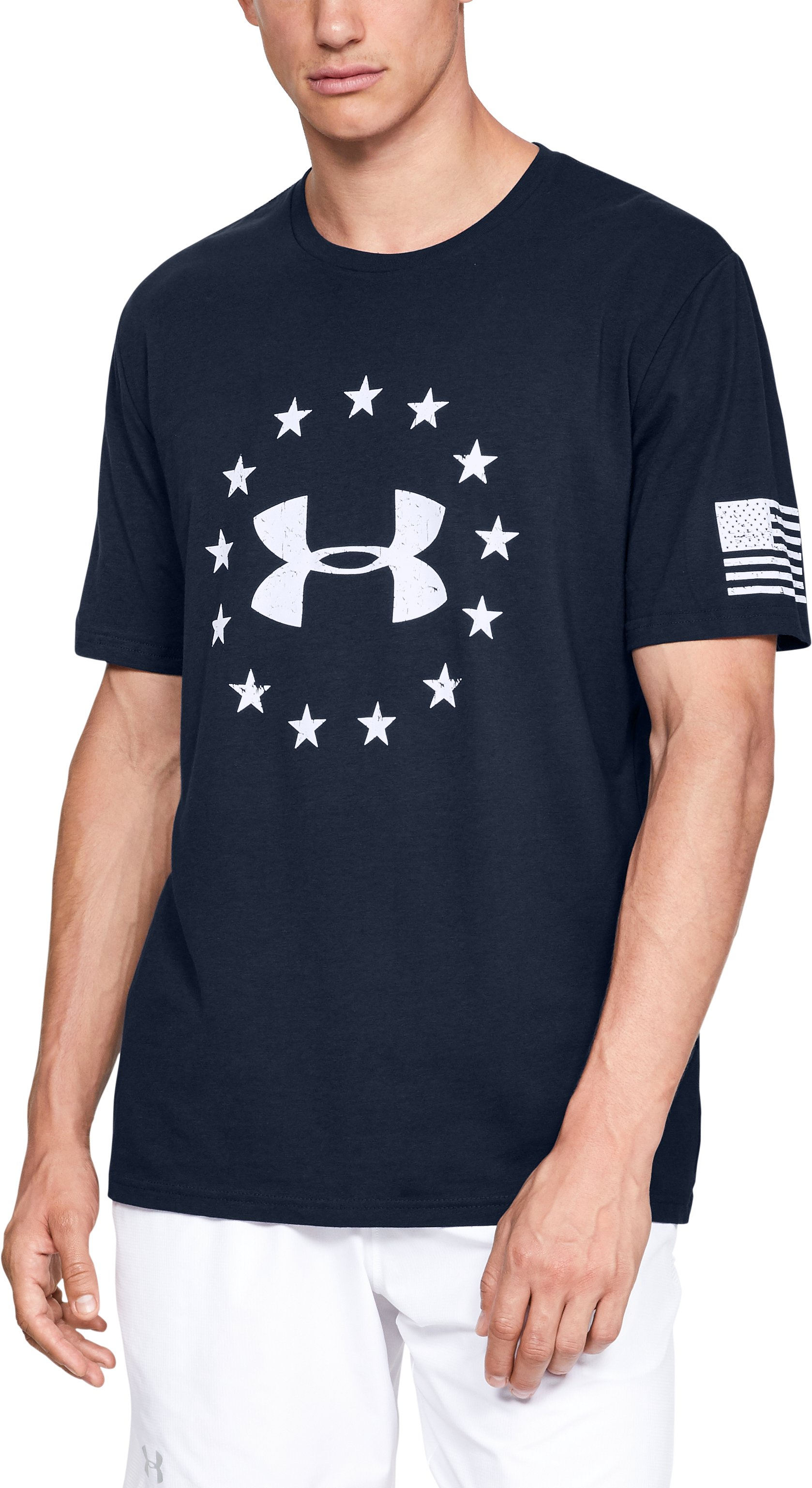 Men's UA Freedom Logo T-Shirt, Academy,