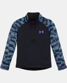 New Arrival Girls' Pre-School UA Mini Galaxy 1/4 Zip LIMITED TIME: FREE U.S. SHIPPING 2 Colors $34.99