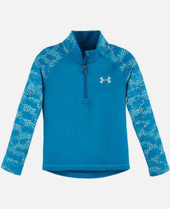 New Arrival Girls' Pre-School UA Mini Galaxy 1/4 Zip LIMITED TIME: FREE U.S. SHIPPING  $34.99