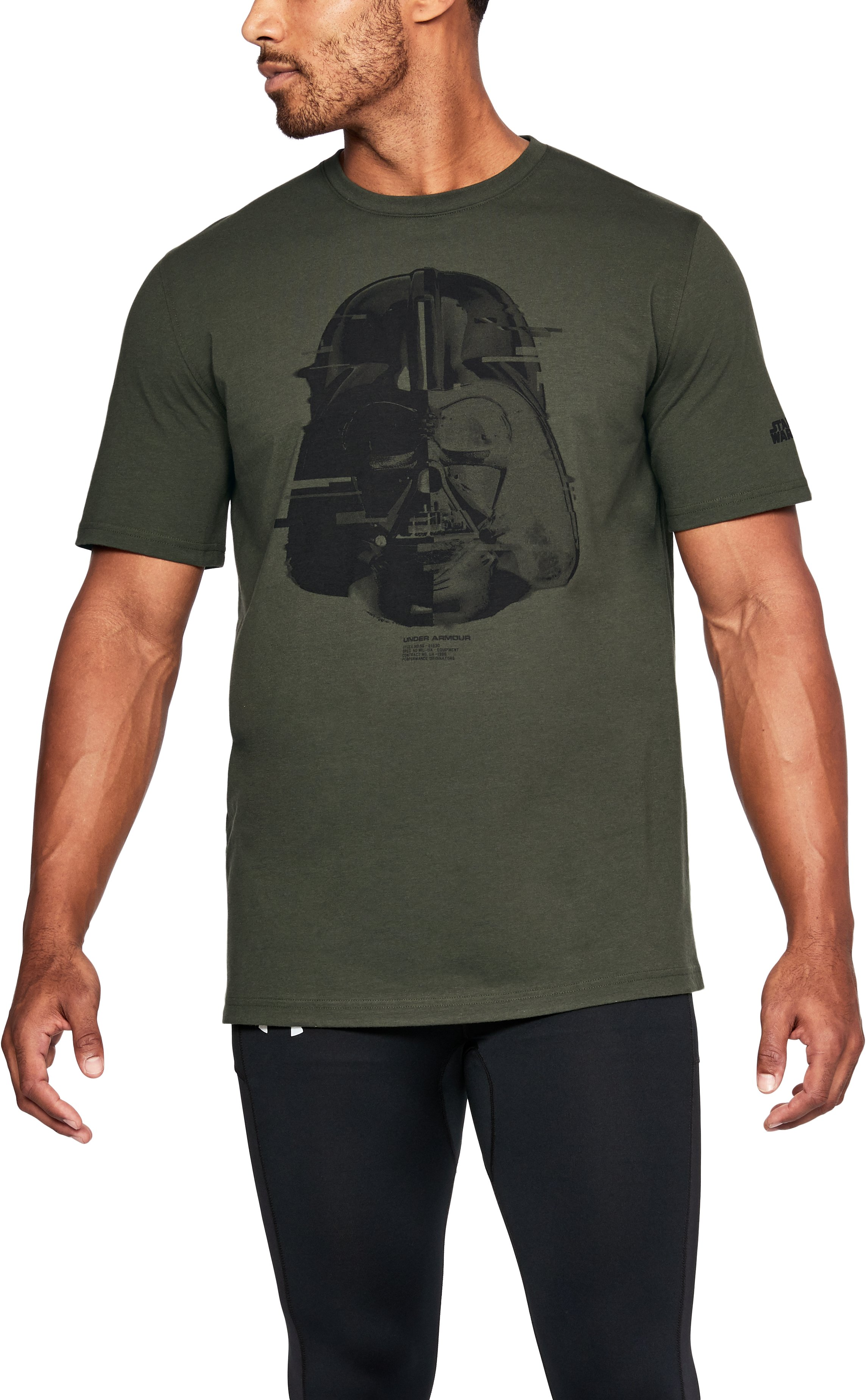 Men's UA Star Wars Vader T-Shirt, Rifle Green