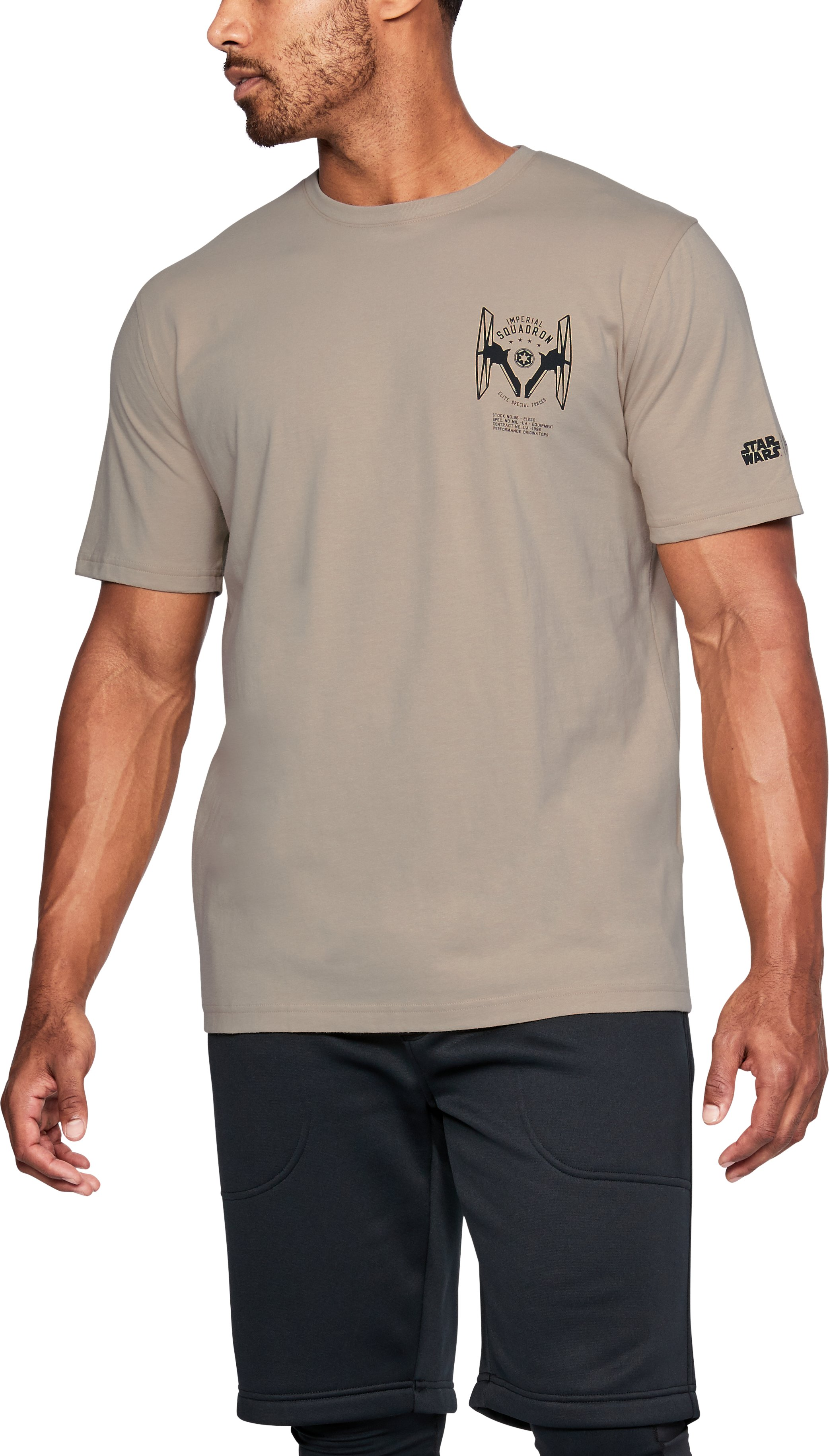 back to school t shirts Men's UA Star Wars Trooper Back T-Shirt Great design, really like the sand color....This shirt fit great around the arms and shoulders....Comfortable, great fit