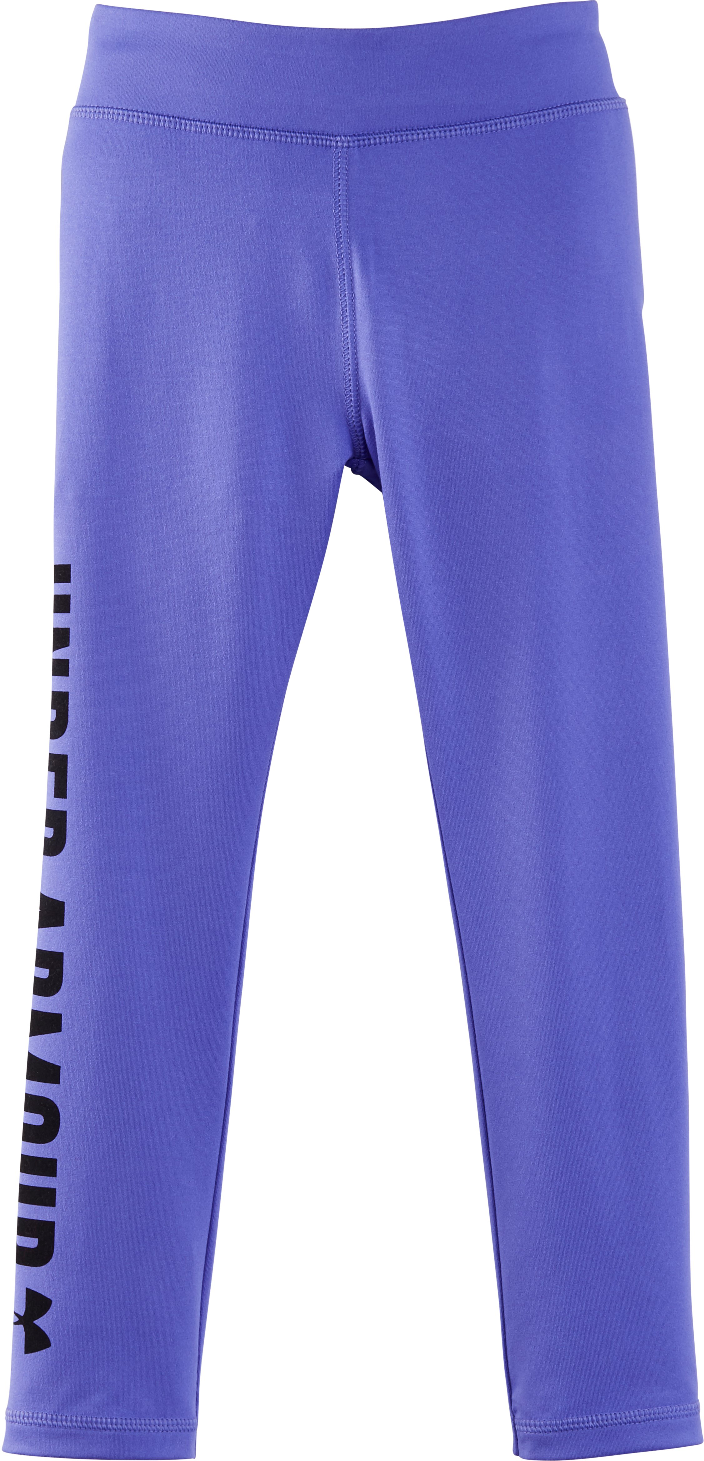 Girls' Pre-School UA Favorites Leggings, VIOLET STORM, Laydown