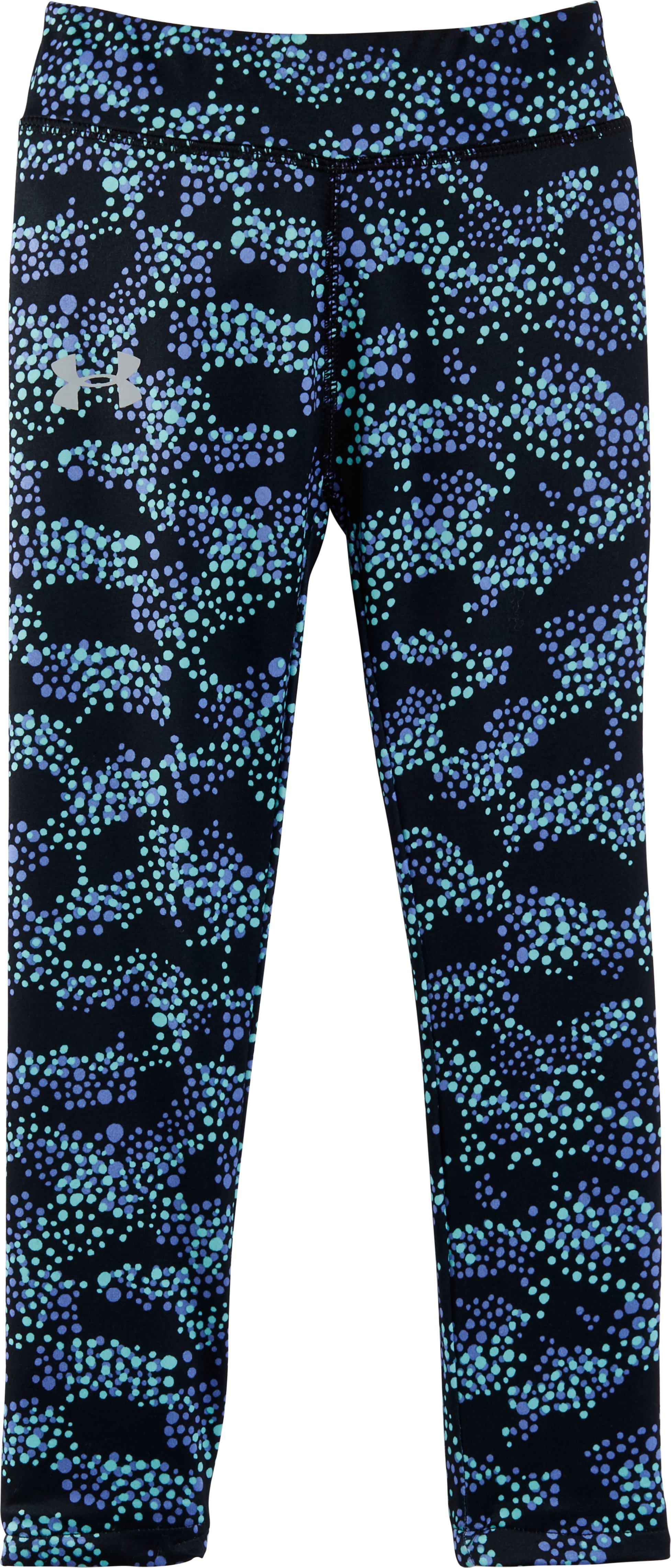 Girls' Pre-School UA Galaxy Leggings, Black , Laydown