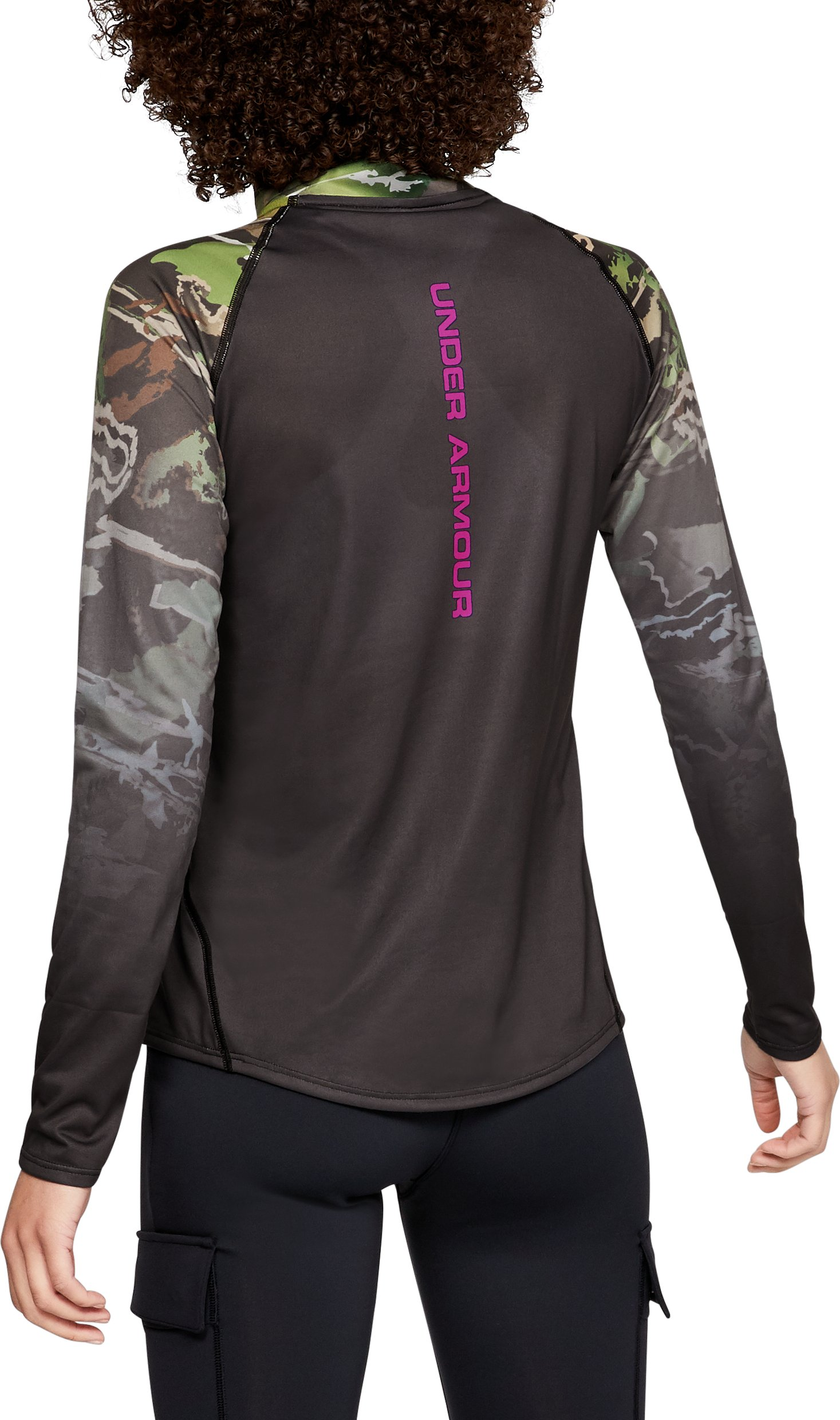 Women's UA Tech™ Faded ¼ Zip, UA FOREST CAMO,