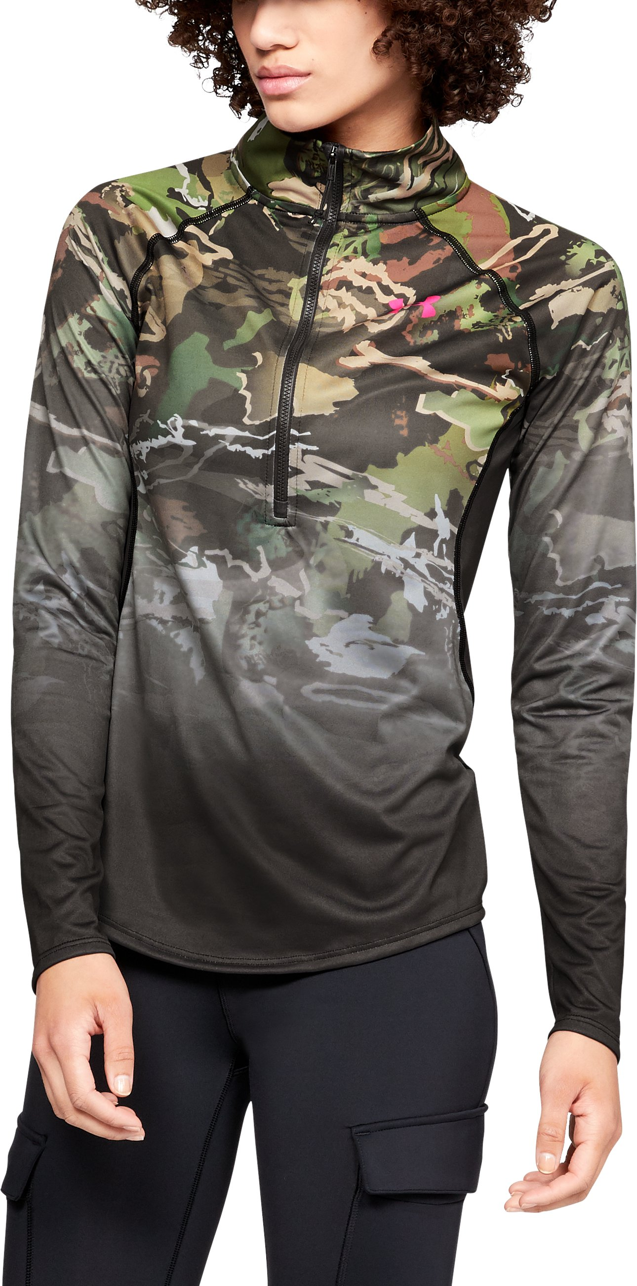 Women's UA Tech™ Faded ¼ Zip, UA FOREST CAMO