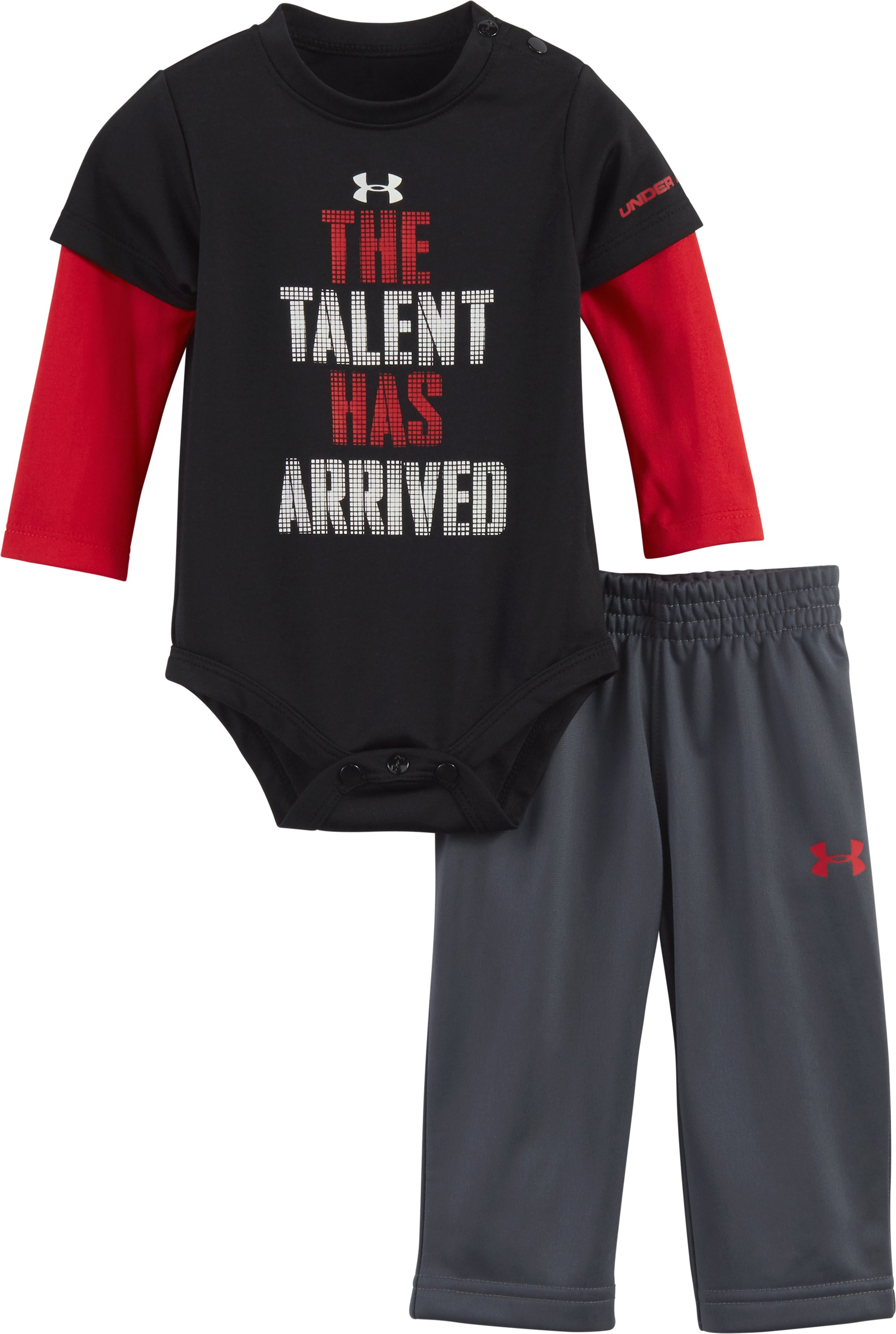 Boys' Newborn UA The Talent Has Arrived Set, Black , Laydown