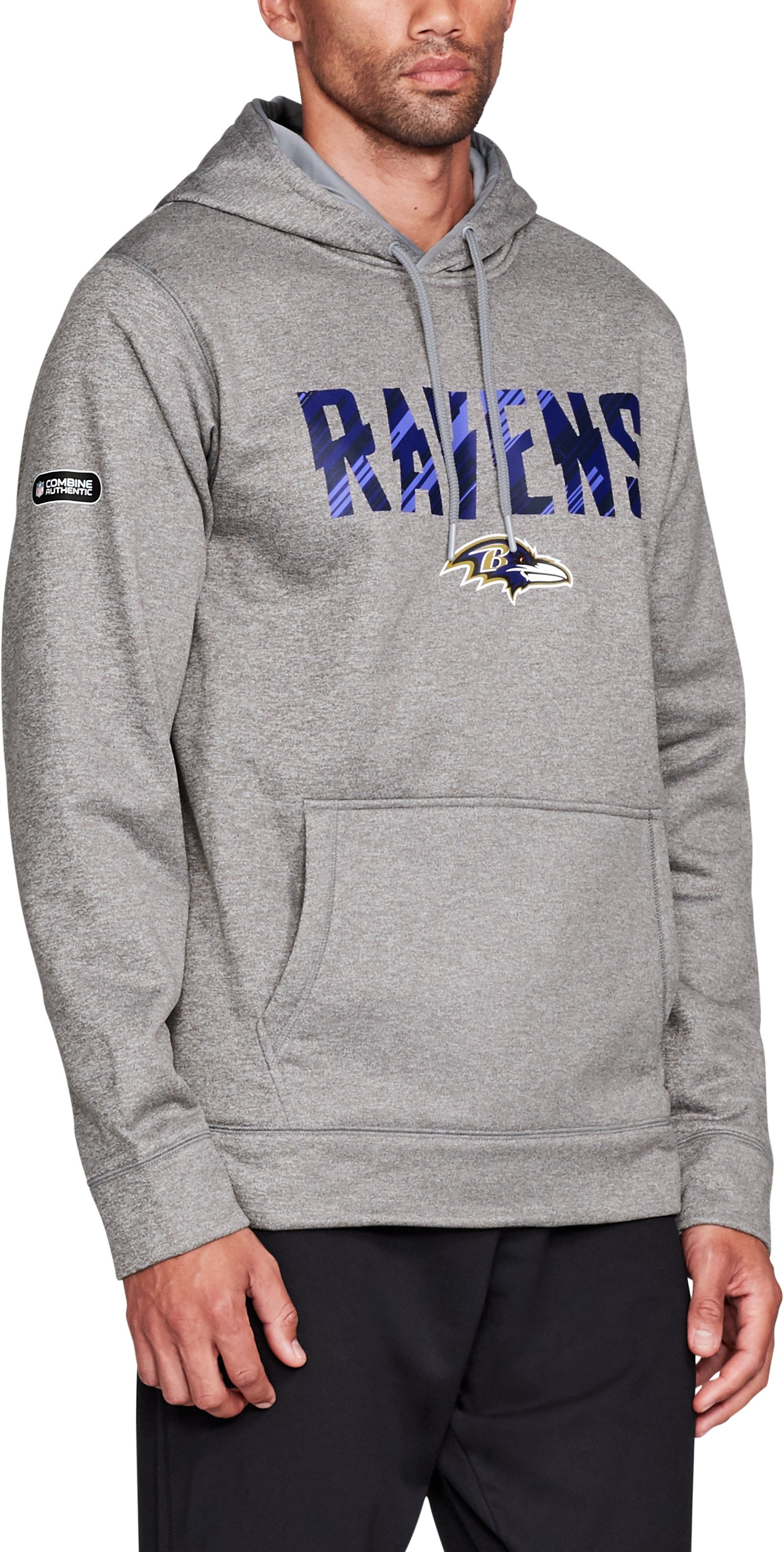 Men's NFL Combine Authentic Wordmark Hoodie, Baltimore Ravens