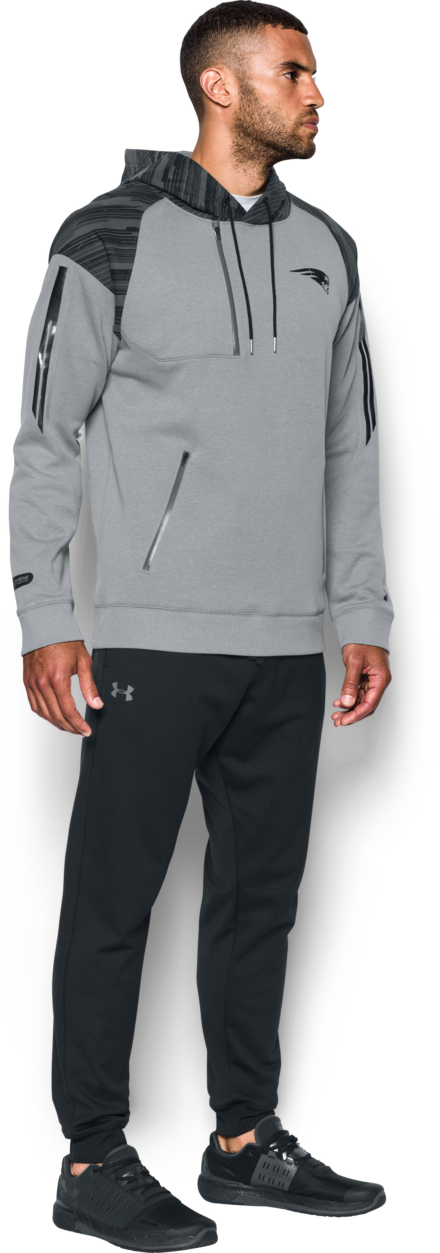 Men's NFL Combine Authentic UA Pinnacle Hoodie, NFL_NEW ENGLAND PATRIOTS_PINANCLE GRAY,