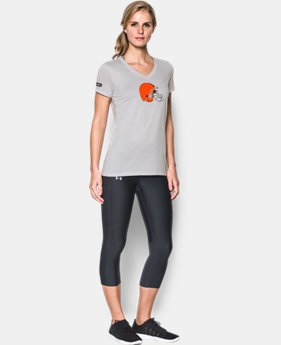 New to Outlet Women's NFL Combine Authentic UA Logo T-Shirt  1  Color Available $24.5