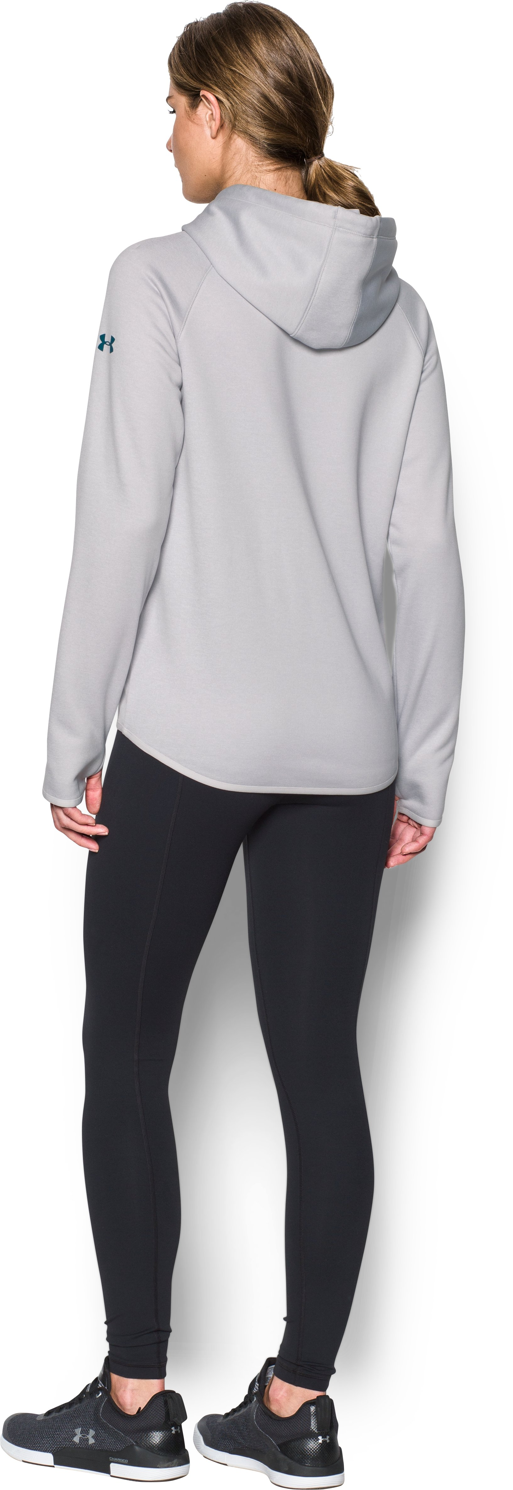 Women's  NFL Combine Authentic UA Storm Logo Hoodie, NFL_PHILADELPHIA EAGLES_GLACIER GRAY, Back