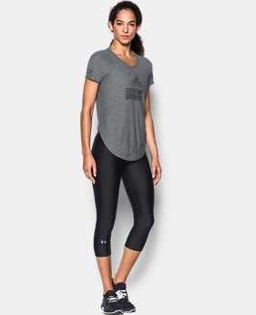 Women's NFL Combine Authentic UA Studio T-Shirt   2 Colors $37.49