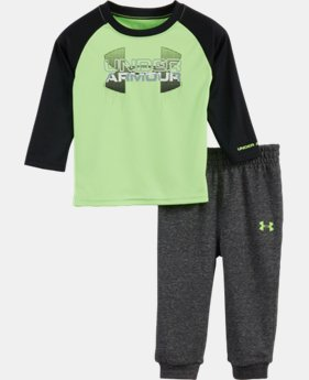 Boys' Infant UA Big Logo Hybrid Raglan Set  2 Colors $34.99