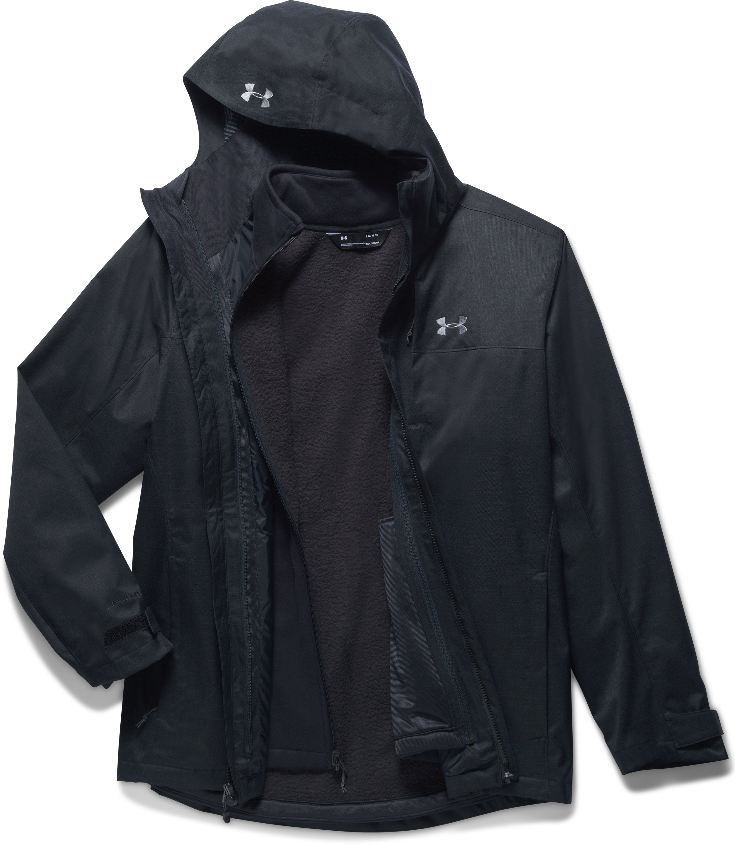 Men's UA Porter 3-in-1 Jacket, Black ,