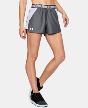 Women's UA Play Up Mesh Inset Shorts  2 Colors $22.49 to $29.99
