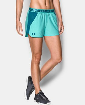 Women's UA Play Up Mesh Inset Shorts  1 Color $29.99