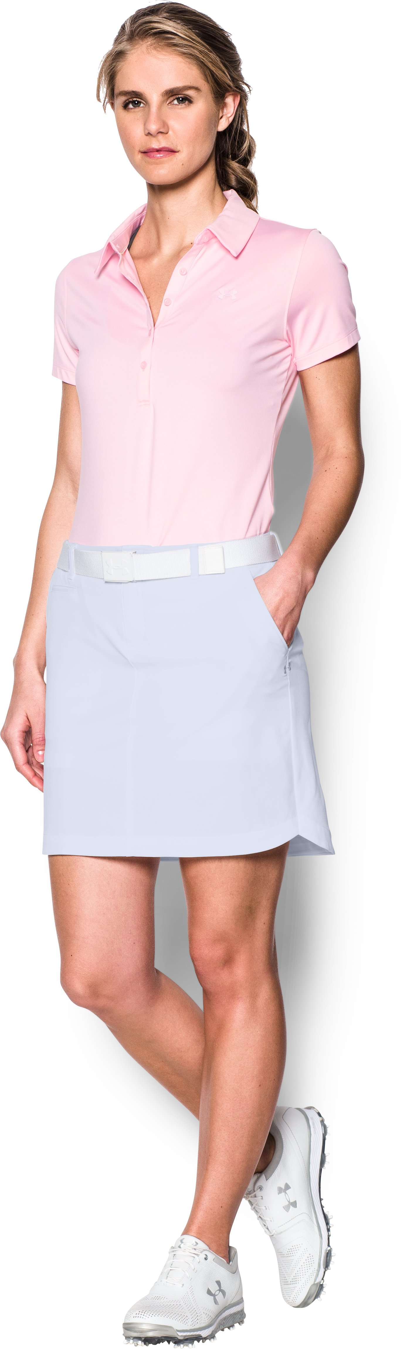 Women's UA Links Woven Skort, White, Front