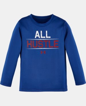 New Arrival Boys' Pre-School UA All Hustle Long Sleeve LIMITED TIME: FREE U.S. SHIPPING  $22.99