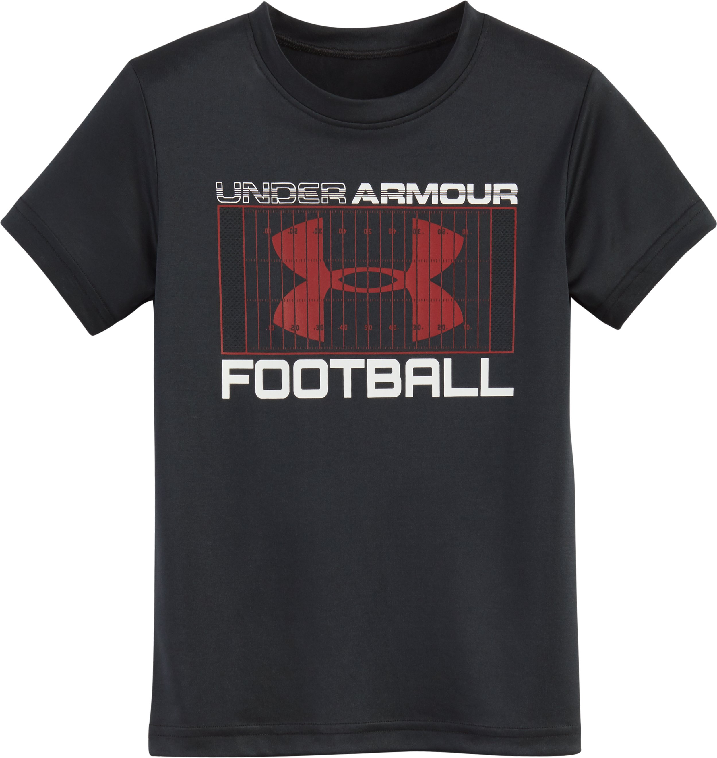 Boys' Pre-School UA Football Grid Short Sleeve T-Shirt, Black