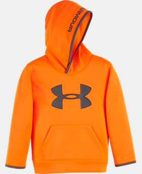 New Arrival Boys' Pre-School UA Armour® Fleece Highlight Hoodie LIMITED TIME OFFER + FREE U.S. SHIPPING  $39.99