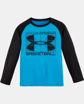 New Arrival Boys' Pre-School UA Branded Raglan Long Sleeve Shirt  1 Color $22.99