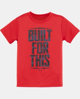 New Arrival Boys' Toddler UA Built For This Short Sleeve Shirt  1 Color $17.99