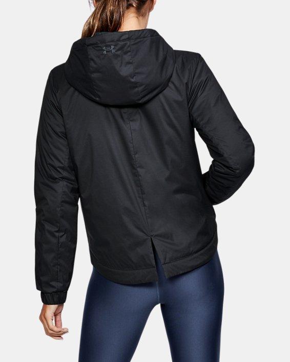 Women's ColdGear® Reactor Crop Hoodie, Black, pdpMainDesktop image number 2