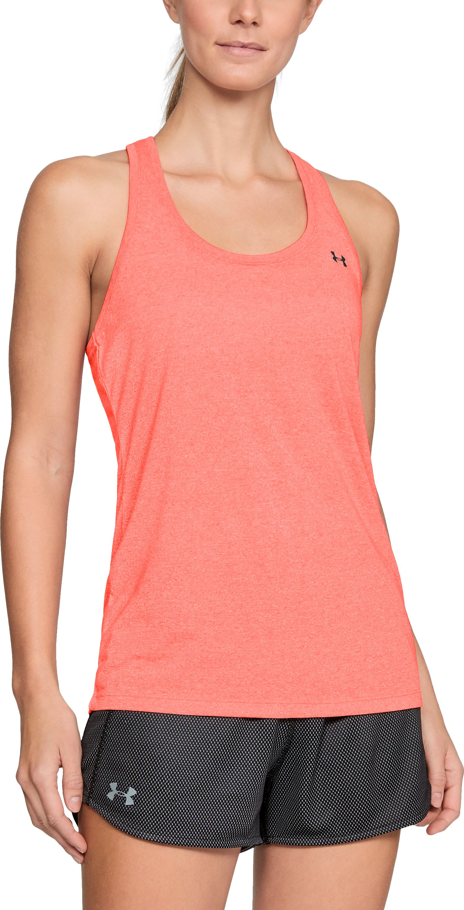 Women's UA Microthread Train Twist Tank, AFTER BURN