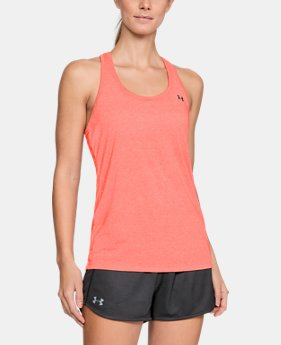 Women's UA Microthread Train Twist Tank  1  Color Available $29.99