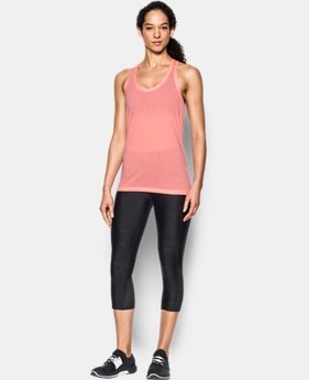 Women's UA Microthread Train Twist Tank  1  Color Available $17.99