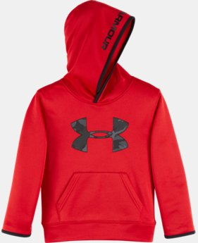 New Arrival Boys' Pre-School UA Armour® Fleece Camo Logo Hoodie LIMITED TIME OFFER + FREE U.S. SHIPPING 2 Colors $39.99