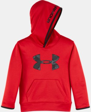 New Arrival Boys' Pre-School UA Armour® Fleece Camo Logo Hoodie LIMITED TIME OFFER + FREE U.S. SHIPPING  $39.99