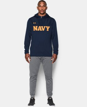 New Arrival Men's Navy UA Terry Hooded ¼ Zip  1 Color $119.99